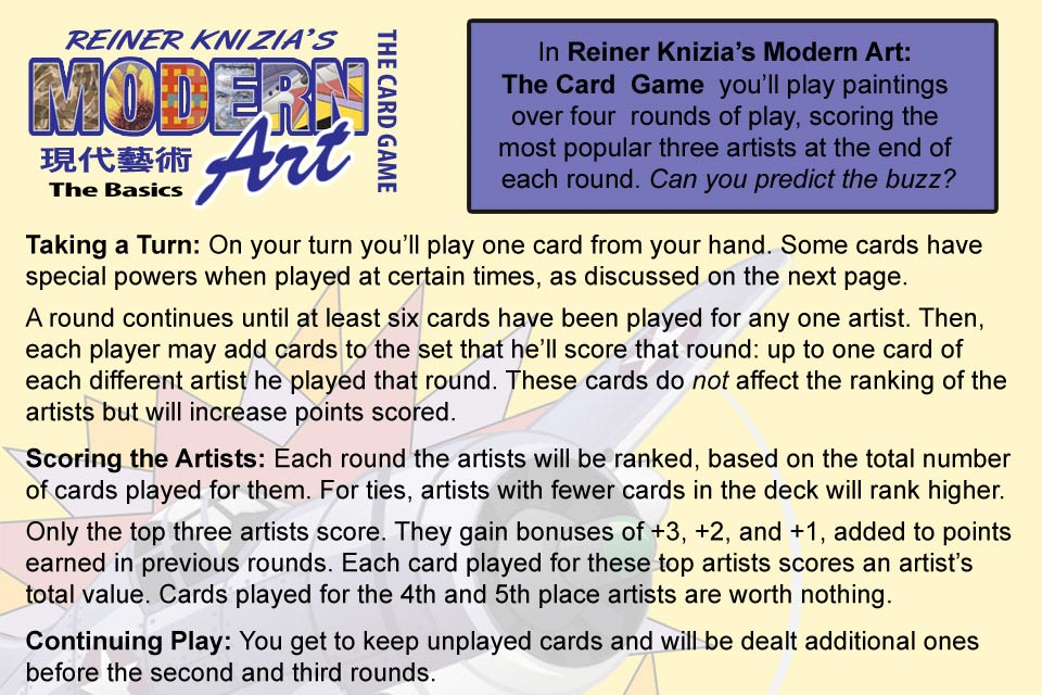 Screenshot Reiner Knizia's Modern Art: The Card Game